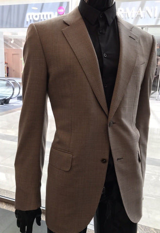 New $5995 Ermenegildo Zegna Couture Suit Brown 44R US ( 54R Eur)
