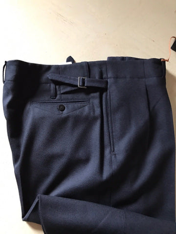 NWT $1100 Ermenegildo Zegna Couture Dress Pants DK Blue 38 US ( 54 Eu ) Italy