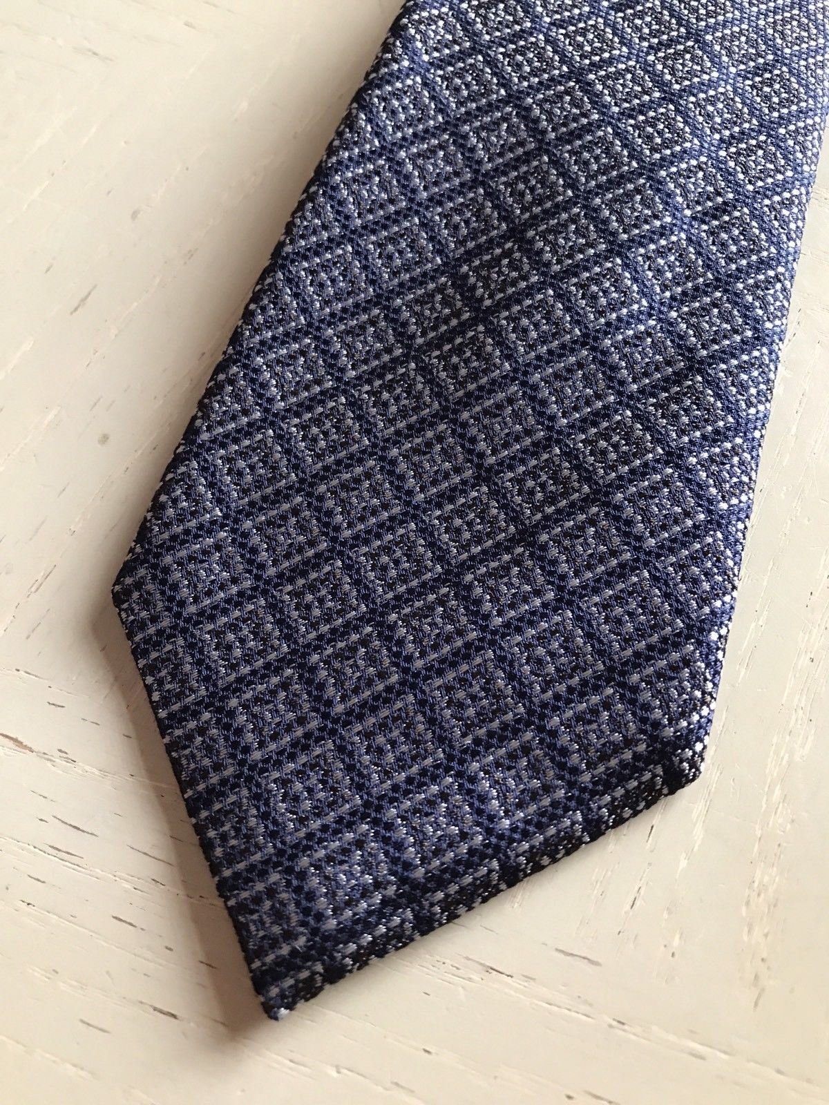 New $255 Ermenegildo Zegna Premium Neck Tie Blue Made in Italy - BAYSUPERSTORE