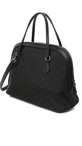 NWT $1275 Gucci Women's GG Canvas/Leather Dollar Calf Handbag Black 420023