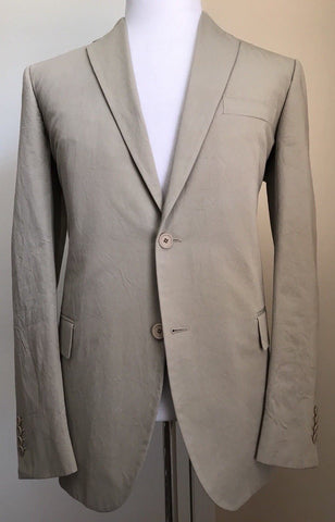 New $2580 Botega Venetta Mens Summer Suit Ivory 44 US ( 54 Eur) Italy - BAYSUPERSTORE