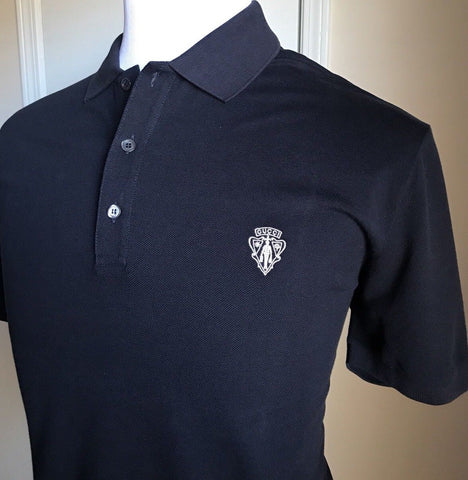 New $575 Gucci Men's Short Sleeve Polo Shirt Blue XXXL Italy