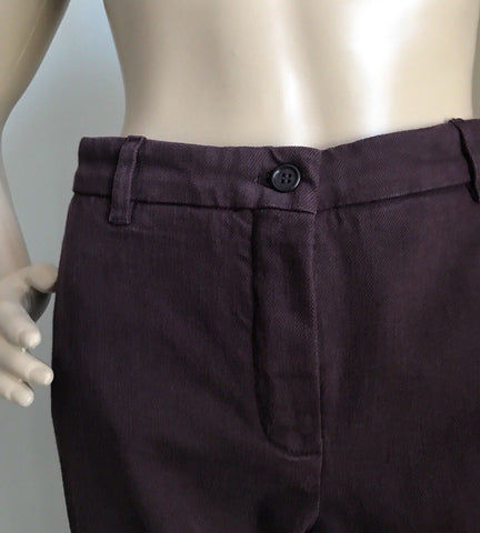 New $980 Loro Piana Women's  Pants Burgundy 16 US ( 48 Eu ) Italy