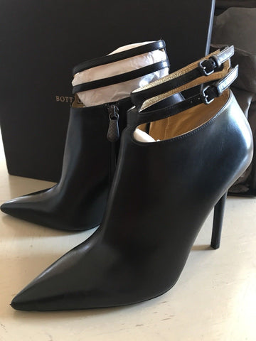 NIB $990 Bottega Veneta Women's Leather Shoes Black Boots 9.5 US ( 39.5 Eu ) - BAYSUPERSTORE