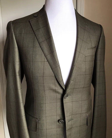 New $2895 ISAIA Napoli Sport Coat Blazer Brown 40 US ( 50 Eur) Italy