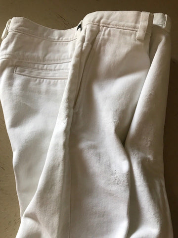 New $935 Gucci Mens Jeans Chino Pant White 34 US ( 50 Eu ) Hand Made In Italy