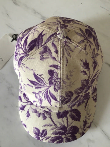 NWT $195 Gucci Women's Baseball Cap Hat Purple 57 ( M ) 408793 Italy - BAYSUPERSTORE