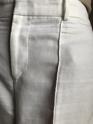 $995 Ralph Lauren Collection Women's Pants White 10 US Made in USA - BAYSUPERSTORE