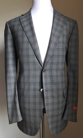 New $3495 ISAIA Napoli 150'S Light no Crease Wool Suit Gray 44L US ( 54L Eur) - BAYSUPERSTORE