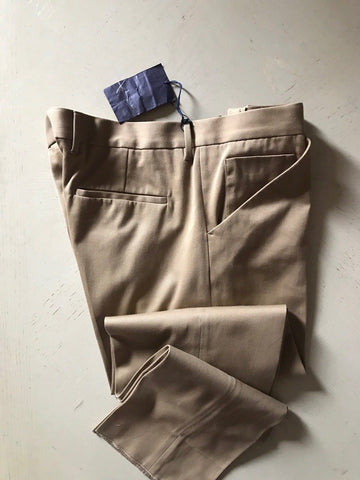 NWT $850 PRADA Mens  Cotton Pants Camel 38 US ( 54 Eu ) Italy - BAYSUPERSTORE
