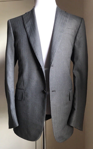 New $3695 ISAIA Napoli Black Label Suit Gray Striped 42R US ( 52R Eur) Italy - BAYSUPERSTORE
