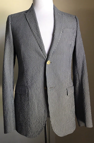 NWT $1665 Gucci Men's Sport Coat Jacket Blazer Blue 36 US ( 46 Eu ) Italy - BAYSUPERSTORE