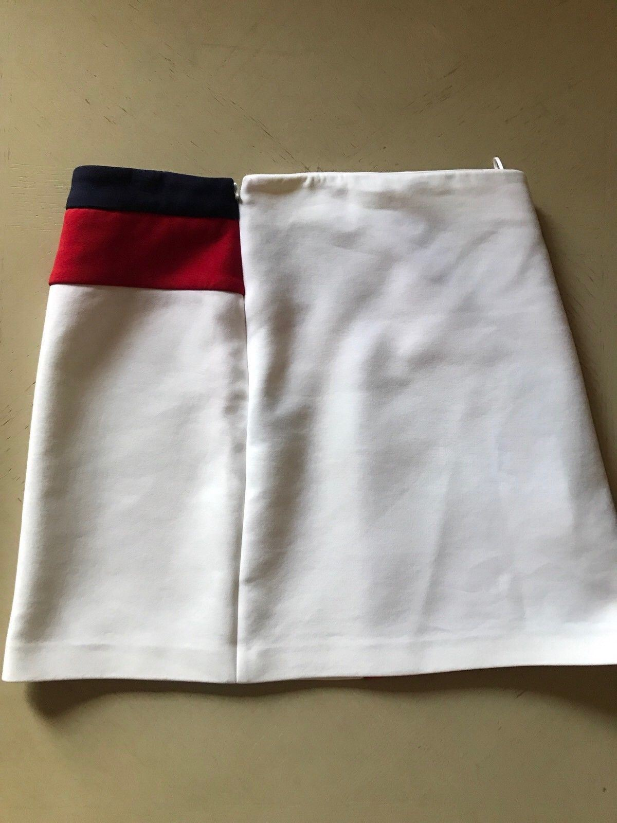 $1450 Salvatore Ferragamo Skirt Red/White 10 US ( 44 It ) Italy - BAYSUPERSTORE