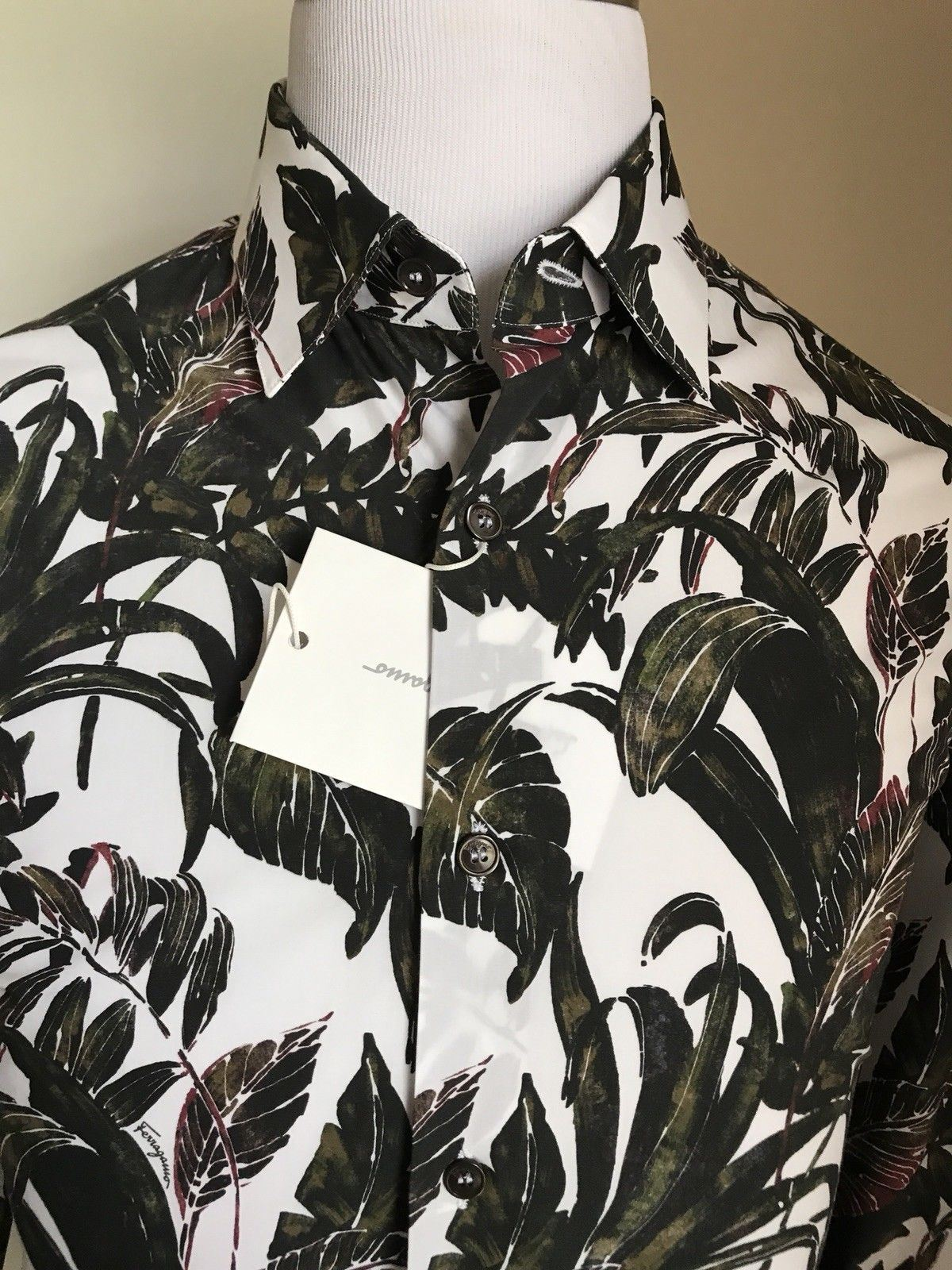 New $490 Salvatore Ferragamo Men's Shirt Multi-Color L Italy - BAYSUPERSTORE