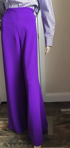 New $1150 Ralph Lauren Purple Label Women's Pants Skirt Purple 10 ( L ) Italy - BAYSUPERSTORE