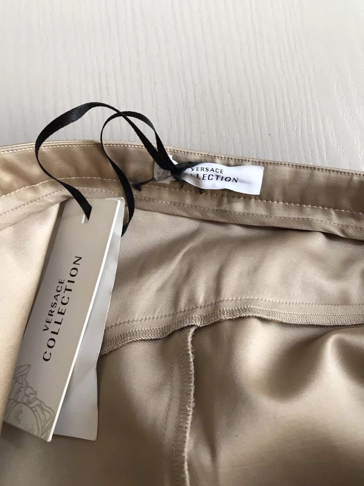 New $1245 Versace Collection Women's Skirt Beige Size 4 US ( 40 Ita ) Italy