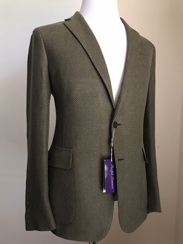 NWT $1995 Ralph Lauren Purple Label Mens Sport Coat Blazer Olive 36R  Italy
