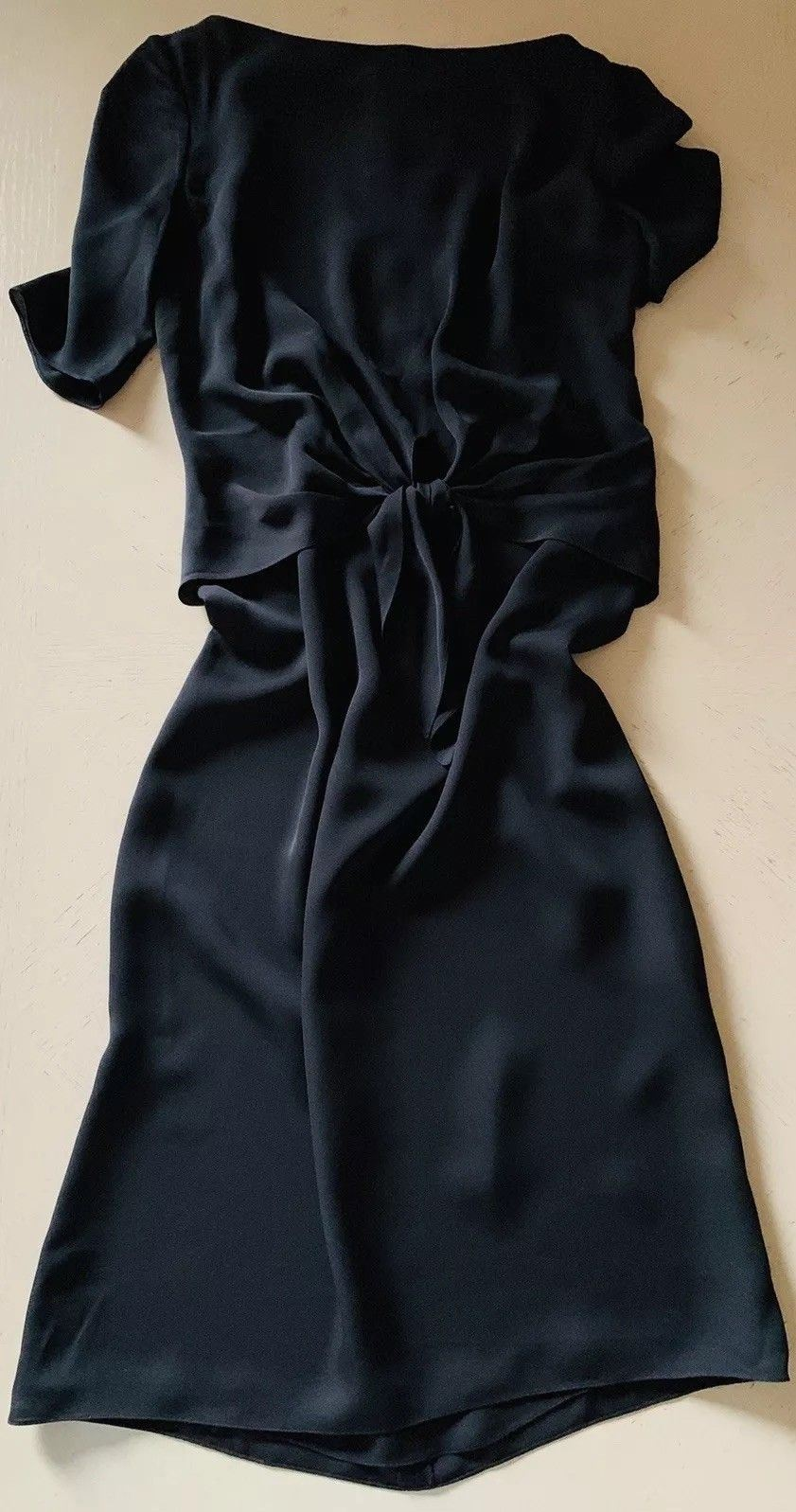 New $1690 Ralph Lauren Purple Label Dresses Dark Black Size 6 US Made In USA