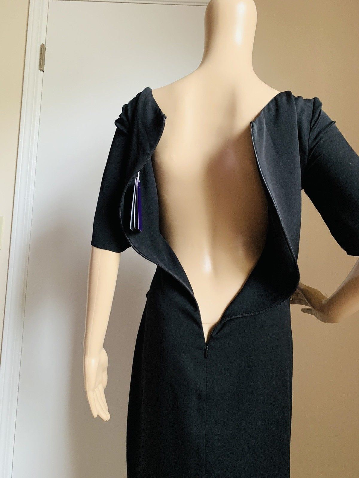 New $1690 Ralph Lauren Purple Label Dresses Dark Black Size 10 US Made In USA