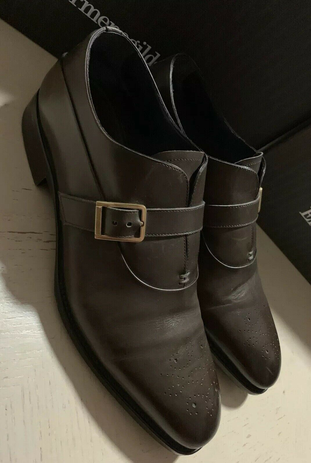 $1350 Ermenegildo Zegna Premium Oxford Shoes MD Brown 10.5 US ( 43.5 Eu ) Italy