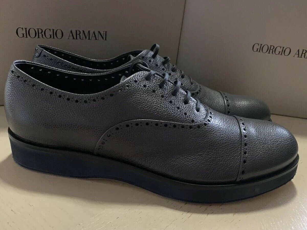 New $825 Giorgio Armani Mens Leather Extralight Shoes Night 12.5 US X2C530