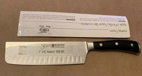 New Wusthof Classic Ikon 7 HE Nakiri Knife 4187/17 Made in Germany