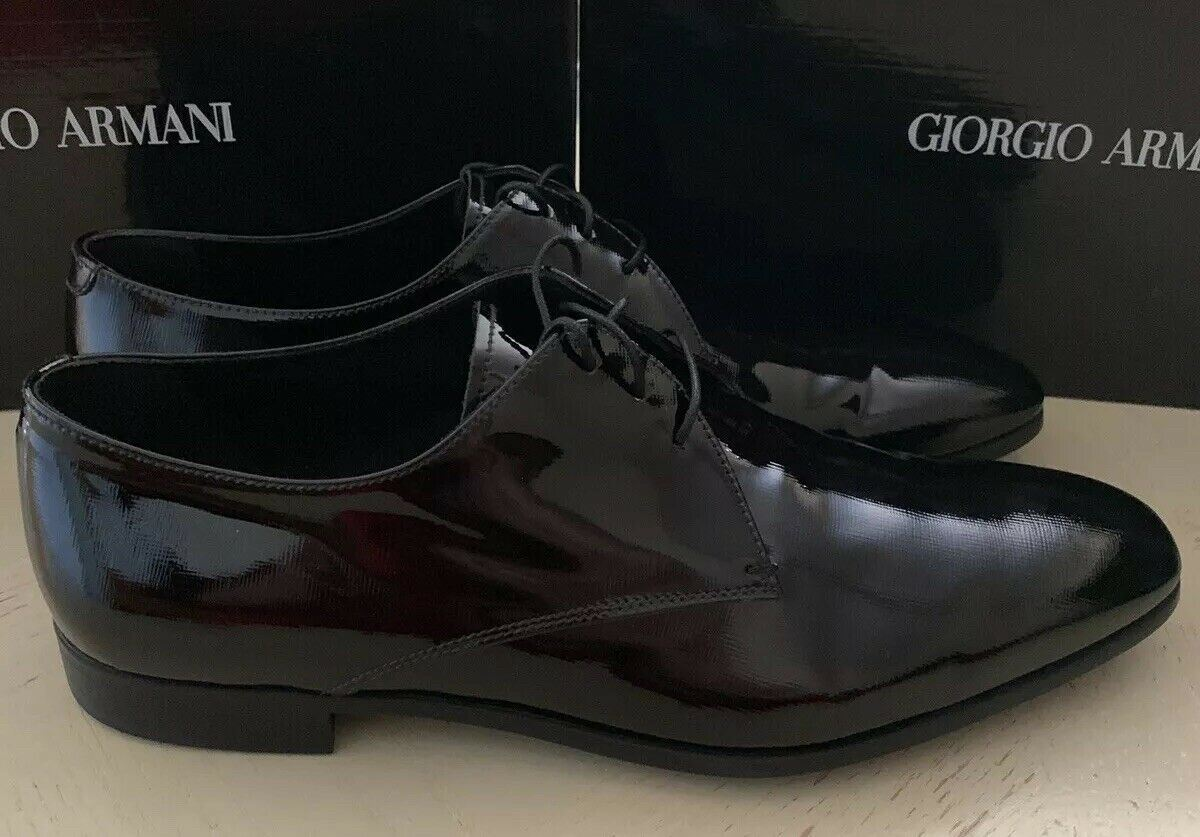 New $595 Giorgio Armani Mens Leather Oxfords Shoes Black 11 US/10 UK  Italy