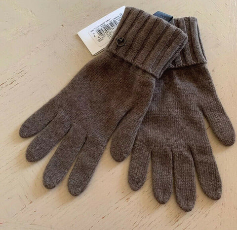 NWT $275 Armani Collezioni Mens Cashmere Gloves LT Brown Size M Italy