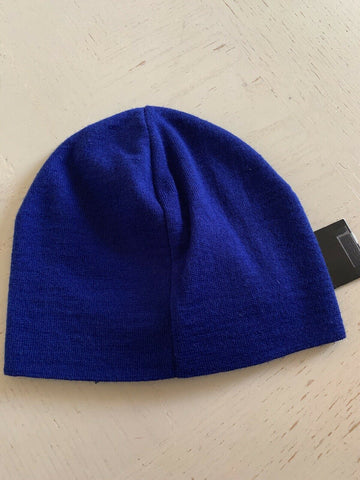 NWT $175 Emporio Armani Mens Beanie Hat Blue Size M Italy