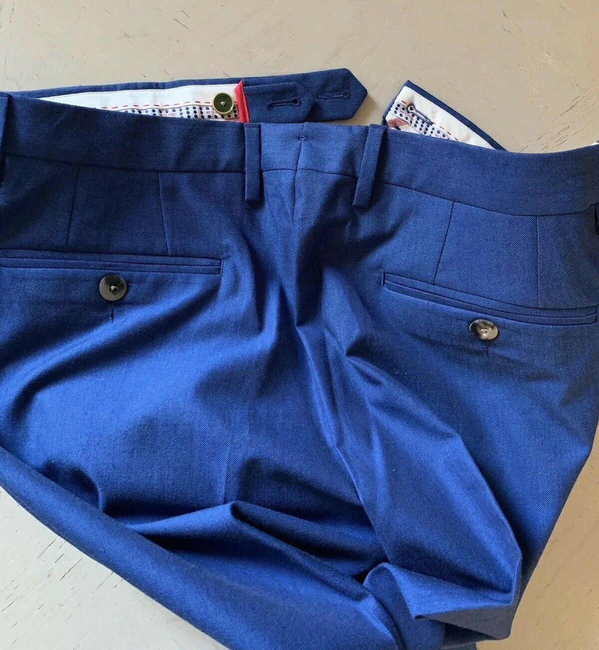 NWT $350 ETRO Mens Dress Pants Blue 36 US ( 52 Eu ) Italy