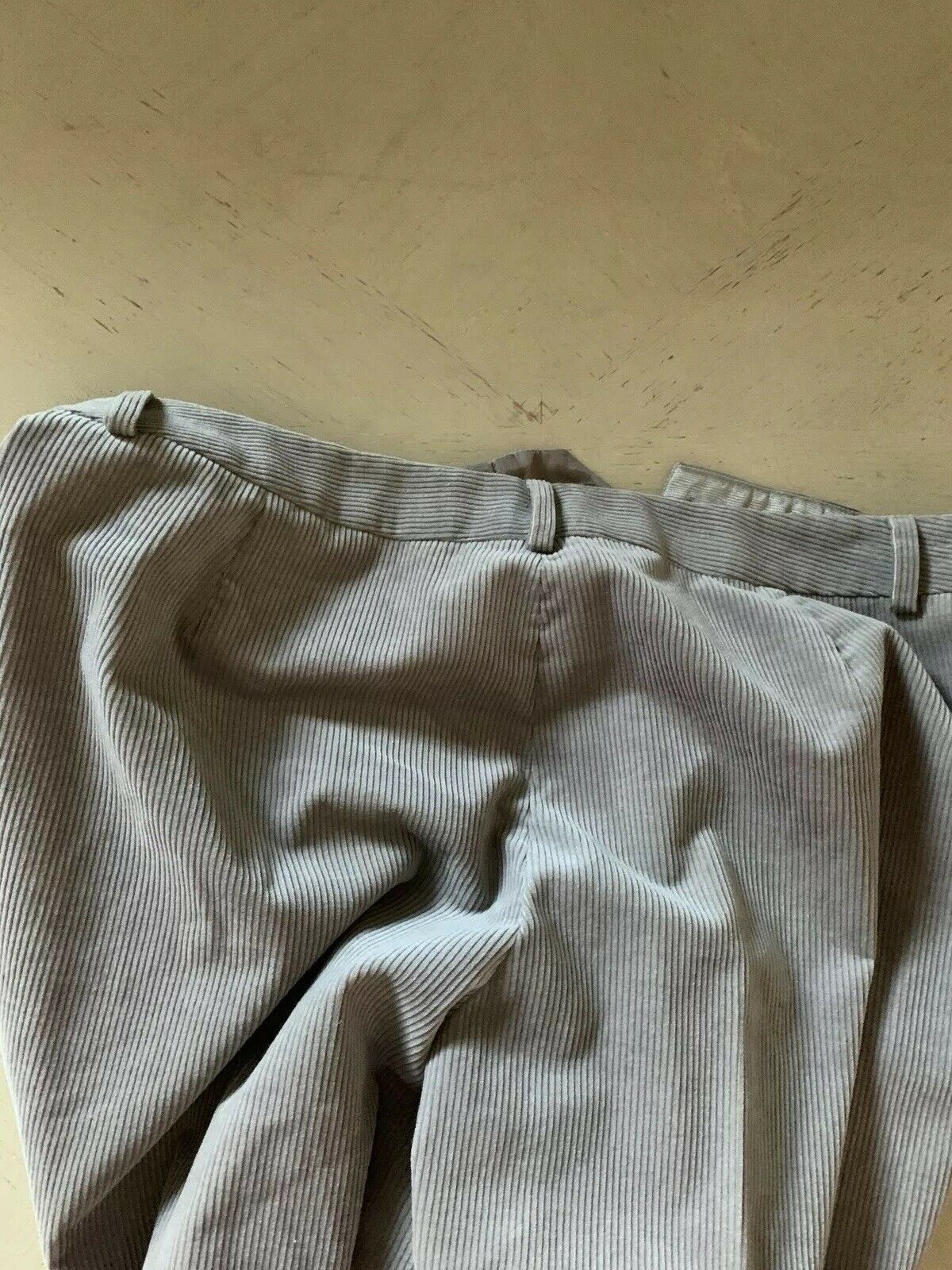 New $795 Giorgio Armani Women's Velvet Pants Gray 48 Eu Made In Italy