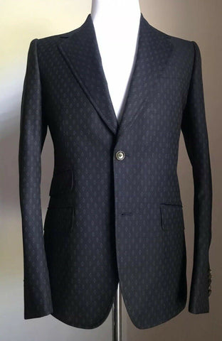 New $3145 Gucci Mens Wool Suit DK Blue 38R US ( 48R Eu) Italy