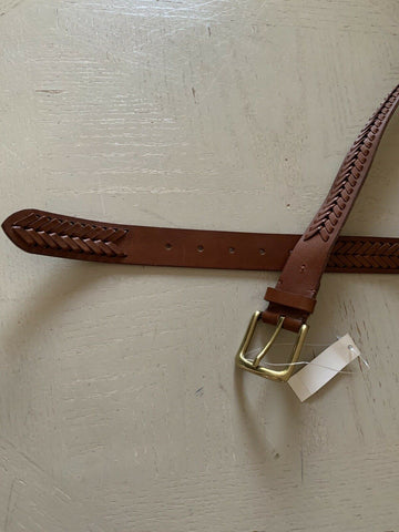 New $350 Ralph Lauren Mens Genuine Leather Belt Brown 36/90 Italy