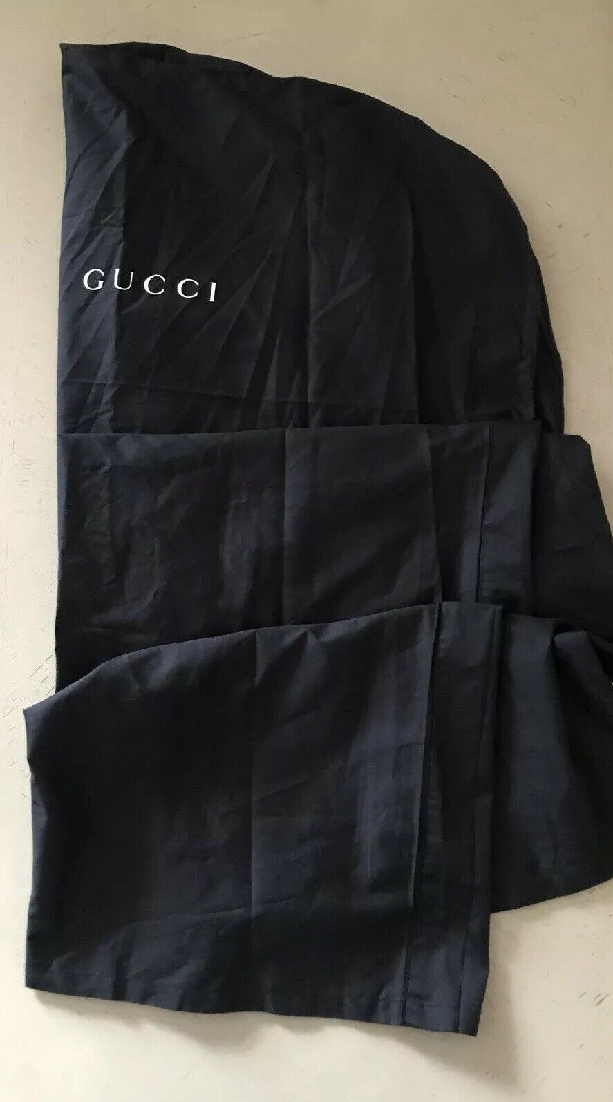 Brand New Gucci Garment Overcoat Dress Any Clothing Black Long Bag