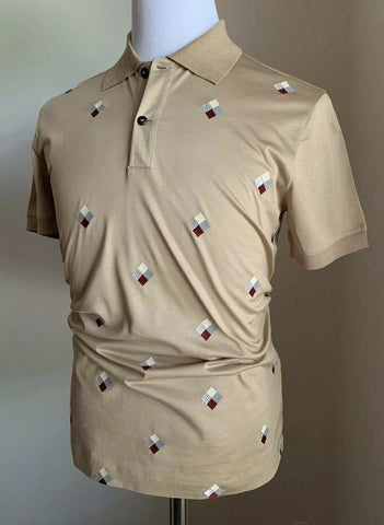 NWT $945 Giorgio Armani Mens Polo Shirt LT Brown M US ( 50 Eu ) Italy