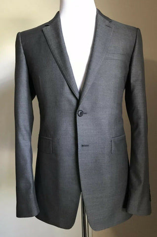 New $3995 Burberry London Mens Silk Wool Suit Dark Gray 40R US ( 50R Eu ) Italy