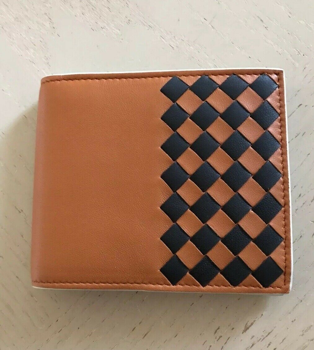 New Bottega Veneta Mens Wallet Orange/Black 113993 Italy