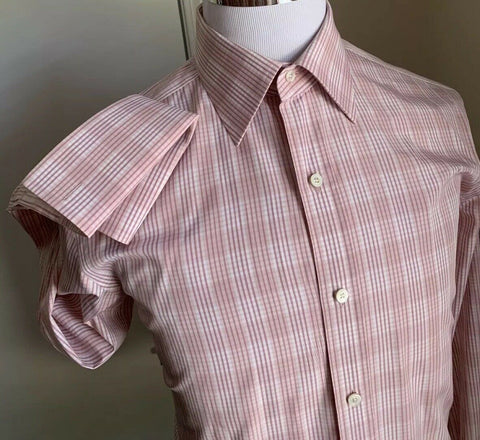 New $715 Tom Ford Mens Dress Shirt Pink/White 42/16.5 Switzerland