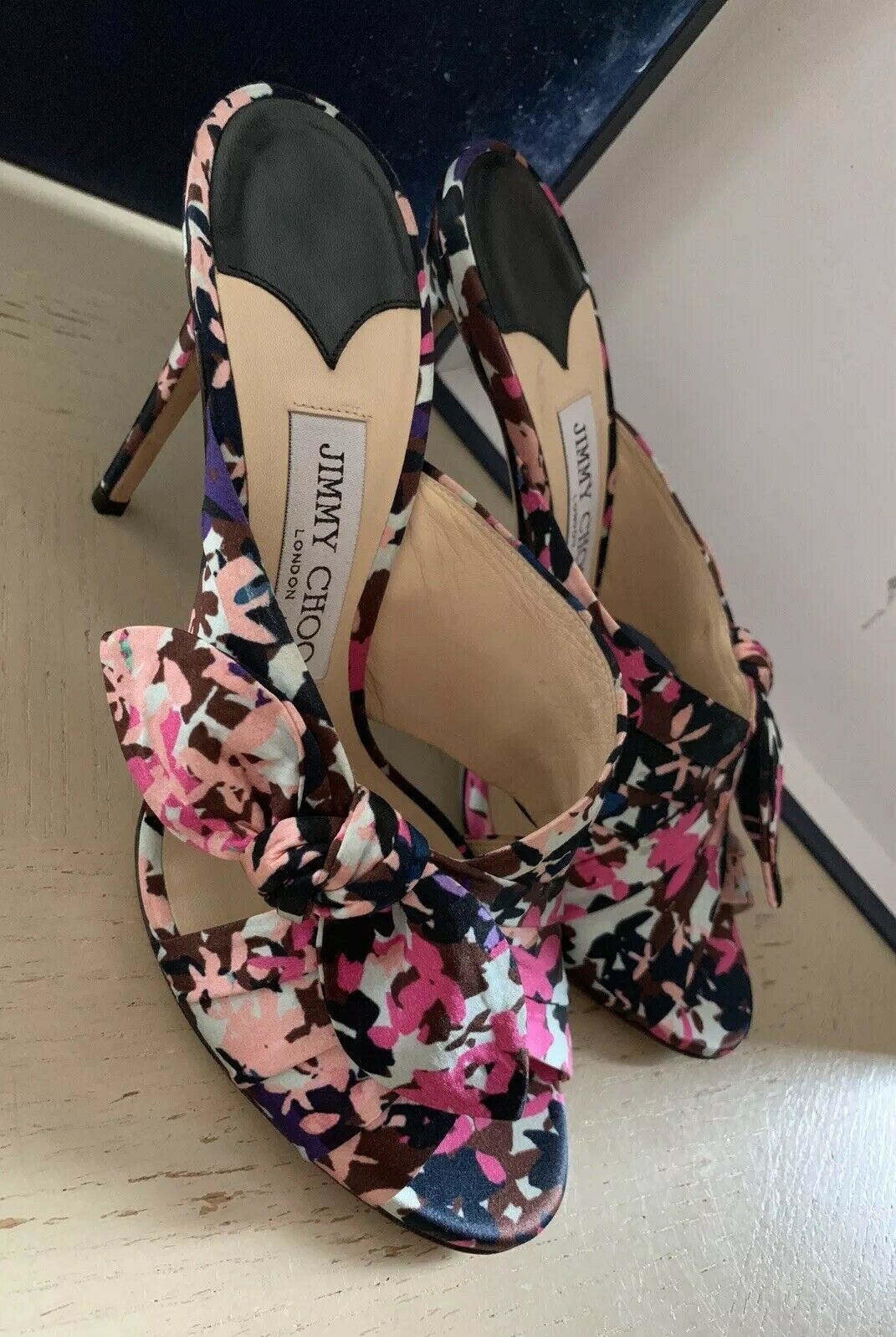 New $795 Jimmy Choo Women Shoes Sandal Multicolor 9 US ( 39 Eu ) Italy