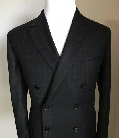 New $2990 Bottega Veneta Mens Double Breasted Suit Black 44R US ( 54R Eur) Italy