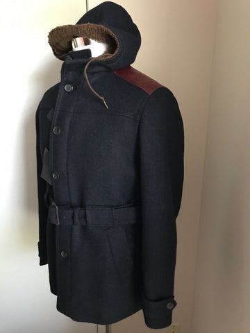 $3500 Prada Means Coat Overcoat Jacket Navy  40 US ( 50 Eu ) Italy