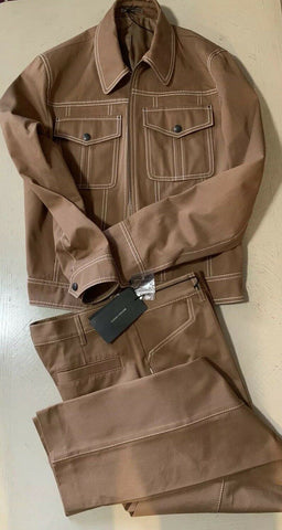 New $2540 Bottega Veneta Mens Suit Camel 40 US ( 50 Eur ) Italy