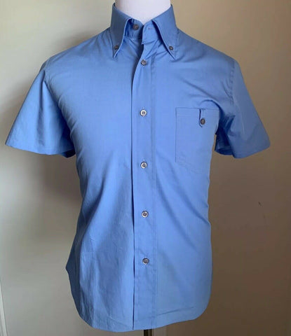 New PRADA Mens Short Sleeve Shirt Blue Size 41/16