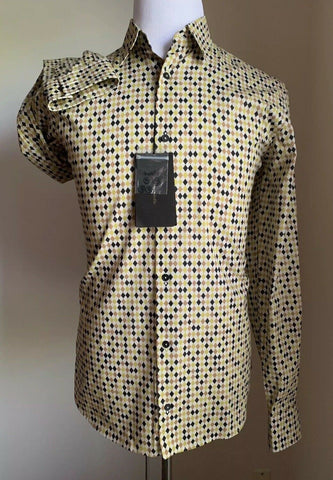 NWT $690 Bottega Veneta Mens Dress Shirt Multi-Color 41/16 Italy
