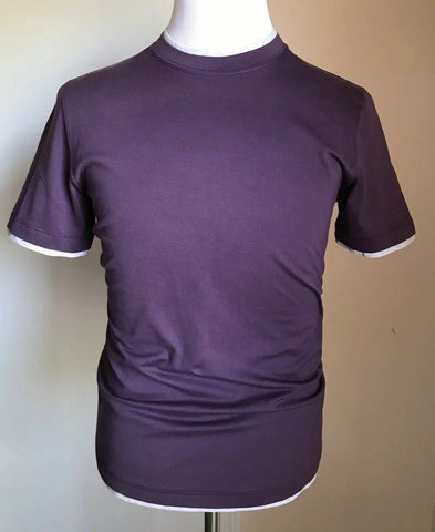 NWT $325 Brunello Cucinelli Mens T Shirt Slim Fit Purple Size S Italy
