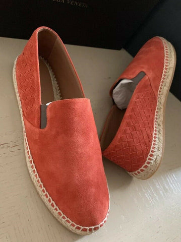 New $580 Bottega Veneta Men Suede Espadrille Shoes Orange 12 US ( 45 Eu ) Italy