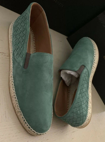 New $580 Bottega Veneta Men Suede Espadrille Shoes Green 13 US ( 46 Eu ) Italy