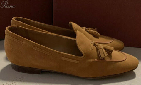 NIB $1075 Loro Piana Women Flats Knight Shoes Brown 9.5 US ( 39.5 Eu ) Italy