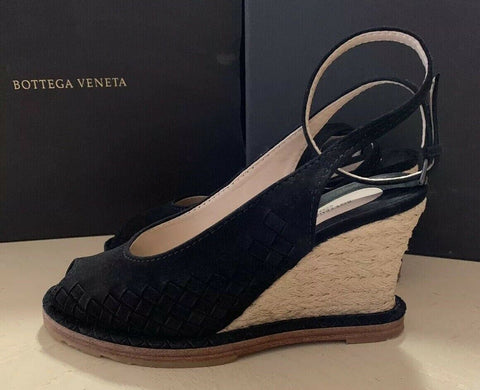 $990 Bottega Veneta Women's Suede Shoes Sandal Black 9 US ( 39 Eu ) Italy