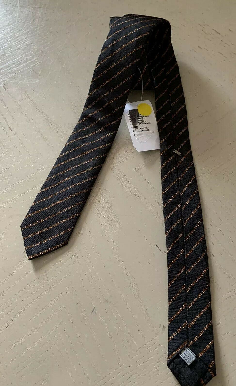 New $210 Dior Skinny Neck Tie Bleu Marin Hand made in Italy